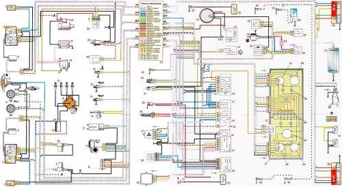 Электрическая схема ваз 2107