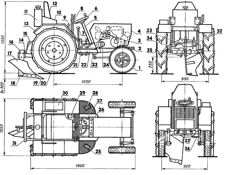 самодельный трактор с