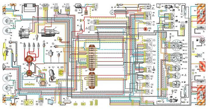 Схема ВАЗ-21099 инжектор