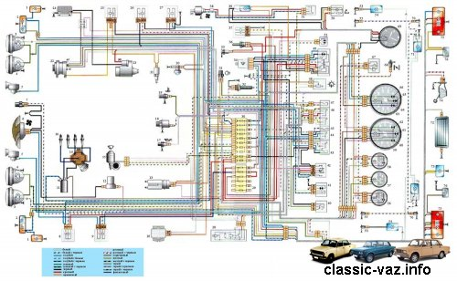 Электросхема ваз 2106