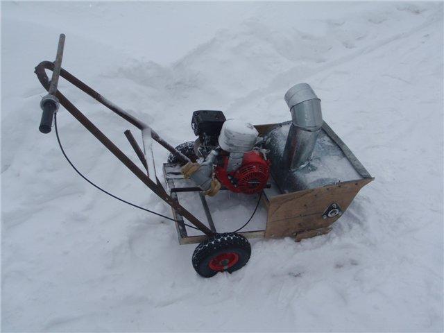 Роторный снегоуборщик своими руками
