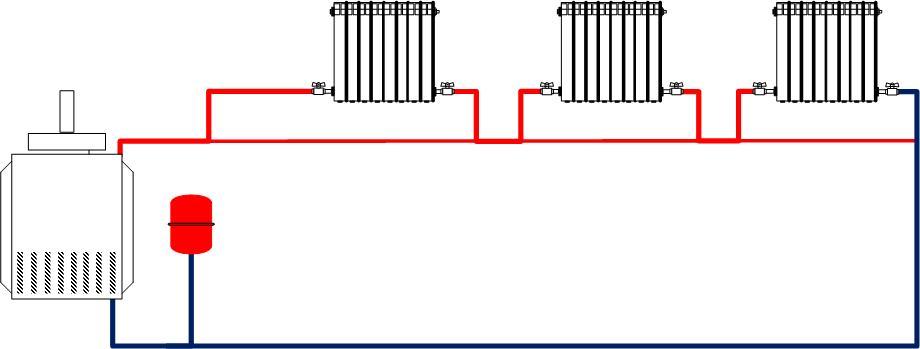 Схема отопления ленинградка своими руками