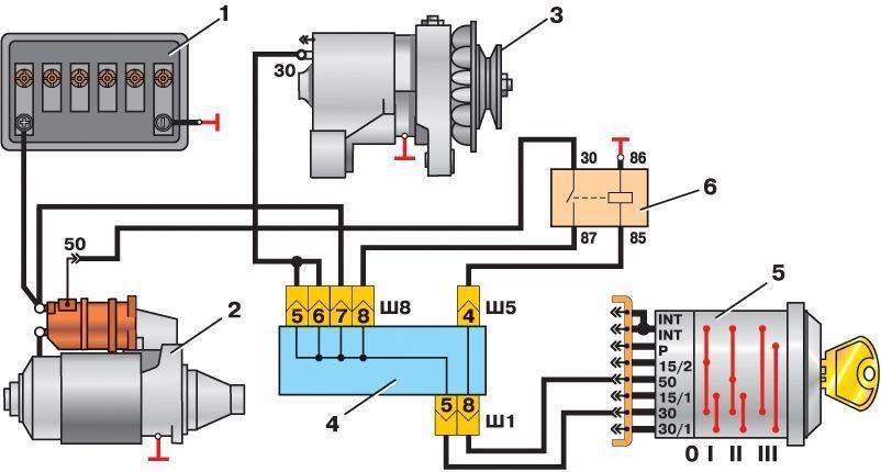 Фото №7 - схема включения стартера ВАЗ 2110 инжектор